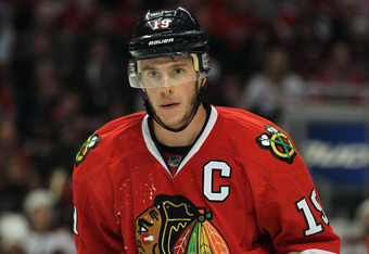 What exactly would a grinning Jonathan Toews look like?