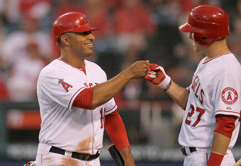 With the emergence of Trout (right), Wells suddenly finds himself without a position...