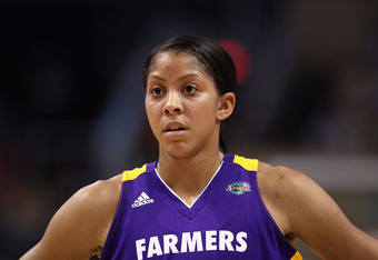 PHOENIX, AZ - SEPTEMBER 03:  Candace Parker #3 of the Los Angeles Sparks during the WNBA game against the Phoenix Mercury at US Airways Center on September 3, 2011 in Phoenix, Arizona.  The Mercury defeated the Sparks 93-77.   NOTE TO USER: User expressly