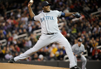 MINNEAPOLIS, MN - SEPTEMBER 21: Michael Pineda #36 of the Seattle Mariners delivers a pitch against the Minnesota Twins in the third inning on September 21, 2011 at Target Field in Minneapolis, Minnesota. (Photo by Hannah Foslien/Getty Images)