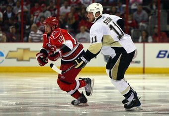 Brothers Jordan and Eric Staal will be united linemates starting this fall.