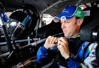 SPARTA, KY - JUNE 29:  Matt Kenseth, driver of the #17 Fifth Third Bank Ford, straps in prior to practice for the NASCAR Sprint Cup Series Quaker State 400 at Kentucky Speedway on June 29, 2012 in Sparta, Kentucky.  (Photo by Jared C. Tilton/Getty Images)