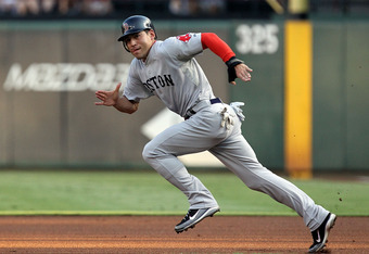 Between 2008 and 2011, only Michael Bourn managed to steal more bases than Ellsbury.