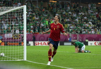 Fernando Torres had a brace against Ireland in the group stage.