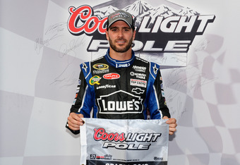 Johnson is on the pole for the Quaker State 400