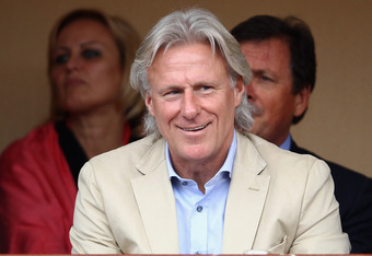 MONTE-CARLO, MONACO - APRIL 18:  Tennis legend, Bjorn Borg of Sweden watches during day four of the ATP Monte Carlo Masters on April 18, 2012 in Monte-Carlo, Monaco.  (Photo by Julian Finney/Getty Images)