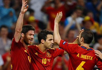 Spain's midfield has been superb in Euro 2012.