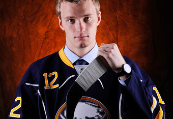 PITTSBURGH, PA - JUNE 22:  Mikhail Grigorenko, drafted 12th overall by the Buffalo Sabres, poses for a portrait during Round One of the 2012 NHL Entry Draft at Consol Energy Center on June 22, 2012 in Pittsburgh, Pennsylvania.  (Photo by Jamie Sabau/Getty