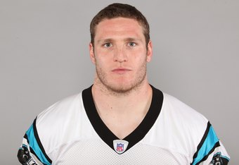CHARLOTTE, NC - 2009:  Dan Connor of the Carolina Panthers poses for his 2009 NFL headshot at photo day in Charlotte, North Carolina. (Photo by NFL Photos)