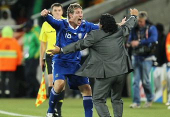 Maradona Was Confident Martin Palermo Would Score Against Greece