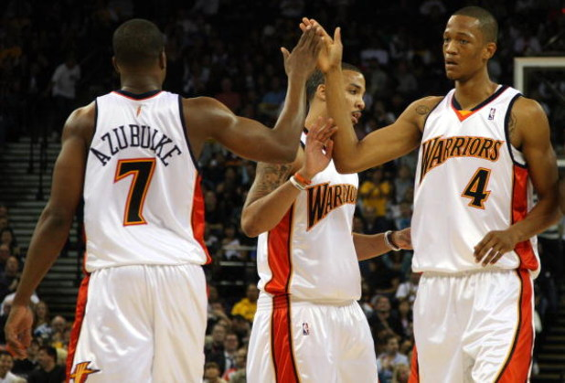 hot sale online 51ba1 c446b The Starting Lineup and Bench for the 2009-2010 Golden State ...