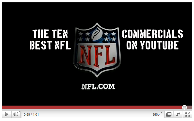 The 10 best nfl commercials on youtube bleacher report latest the 10 best nfl commercials on youtube aloadofball Choice Image