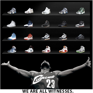 lebron james all shoes