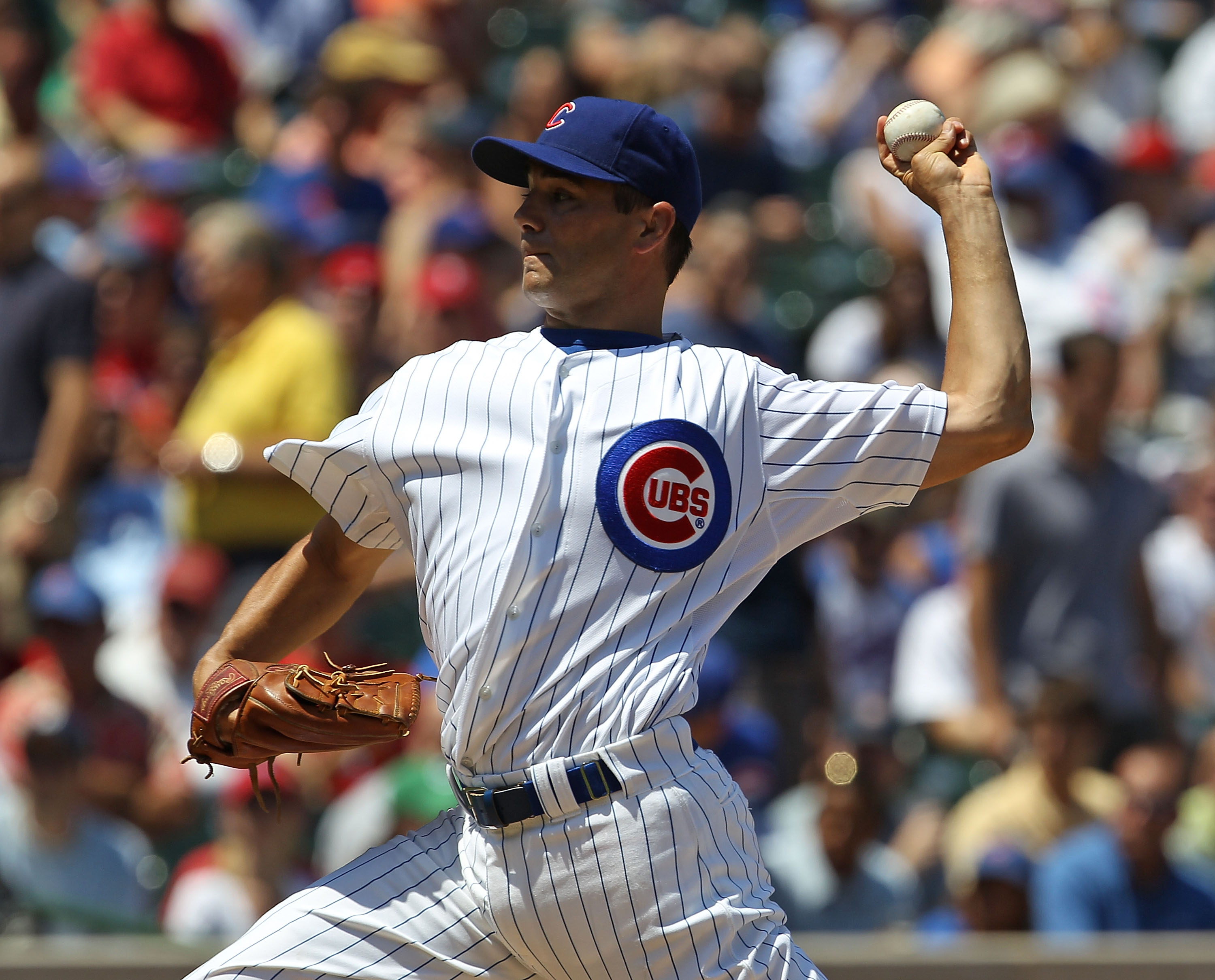 CHICAGO - JULY 16: Starting pitcher Ted Lilly #30 of the Chicago Cubs delivers the ball against the Philadelphia Phillies at Wrigley Field on July 16, 2010 in Chicago, Illinois. The Cubs defeated the Phillies 4-3. (Photo by Jonathan Daniel/Getty Images)