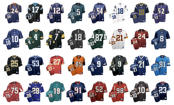 NFL Players By Jersey Numbers