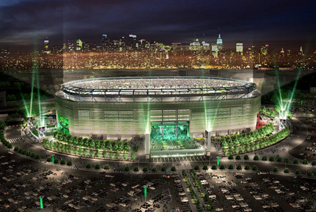 adf056b52b8 New Meadowlands Stadium as it will appear for New York Jets home games.