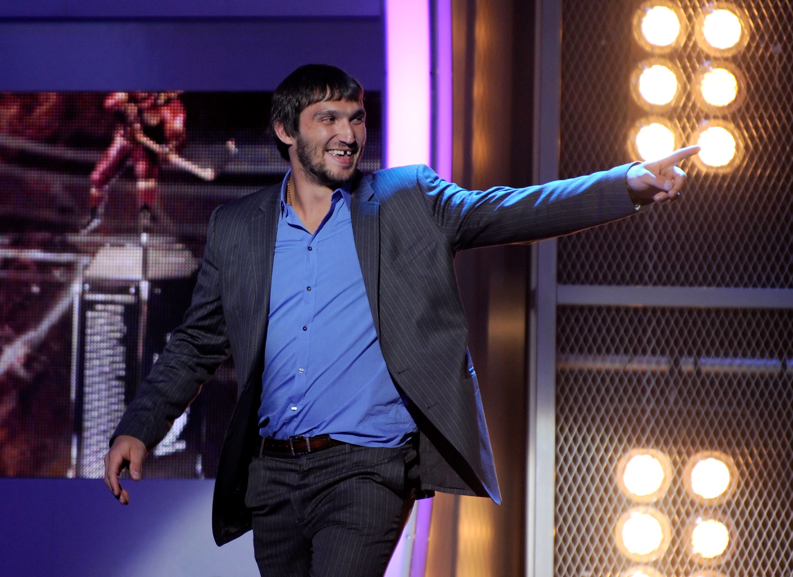 LAS VEGAS - JUNE 23:  Alex Ovechkin of the Washington Capitals accepts the Ted Lindsay Award during the 2010 NHL Awards at The Pearl concert theater at the Palms Casino Resort June 23, 2010 in Las Vegas, Nevada.  (Photo by Ethan Miller/Getty Images for NH