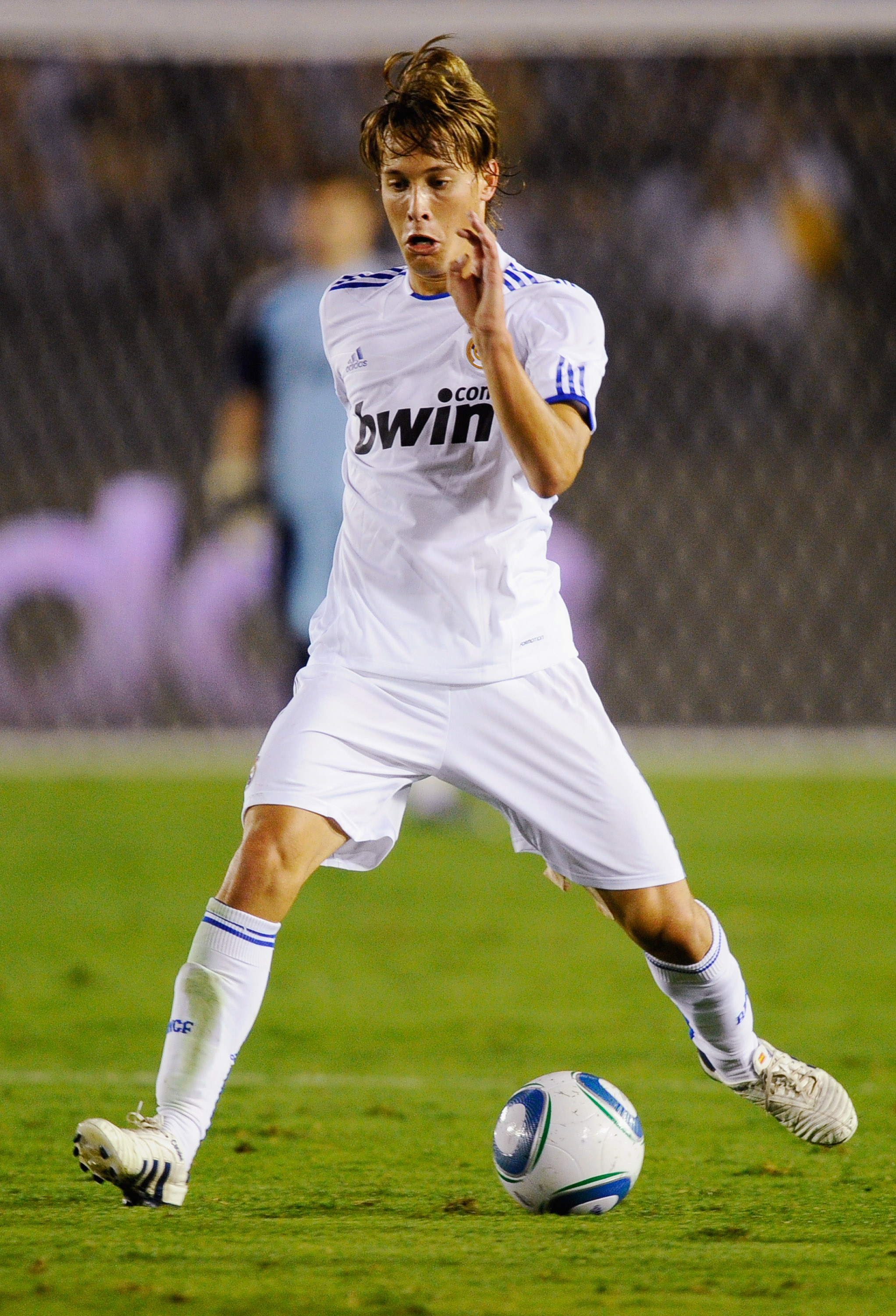 PASADENA, CA - AUGUST 07:  Sergio Canales of Real Madrid during the pre-season friendly soccer match against Los Angeles Galaxy on August 7, 2010 at the Rose Bowl in Pasadena, California. Real Madrid will travel back to Spain after the soccer match comple