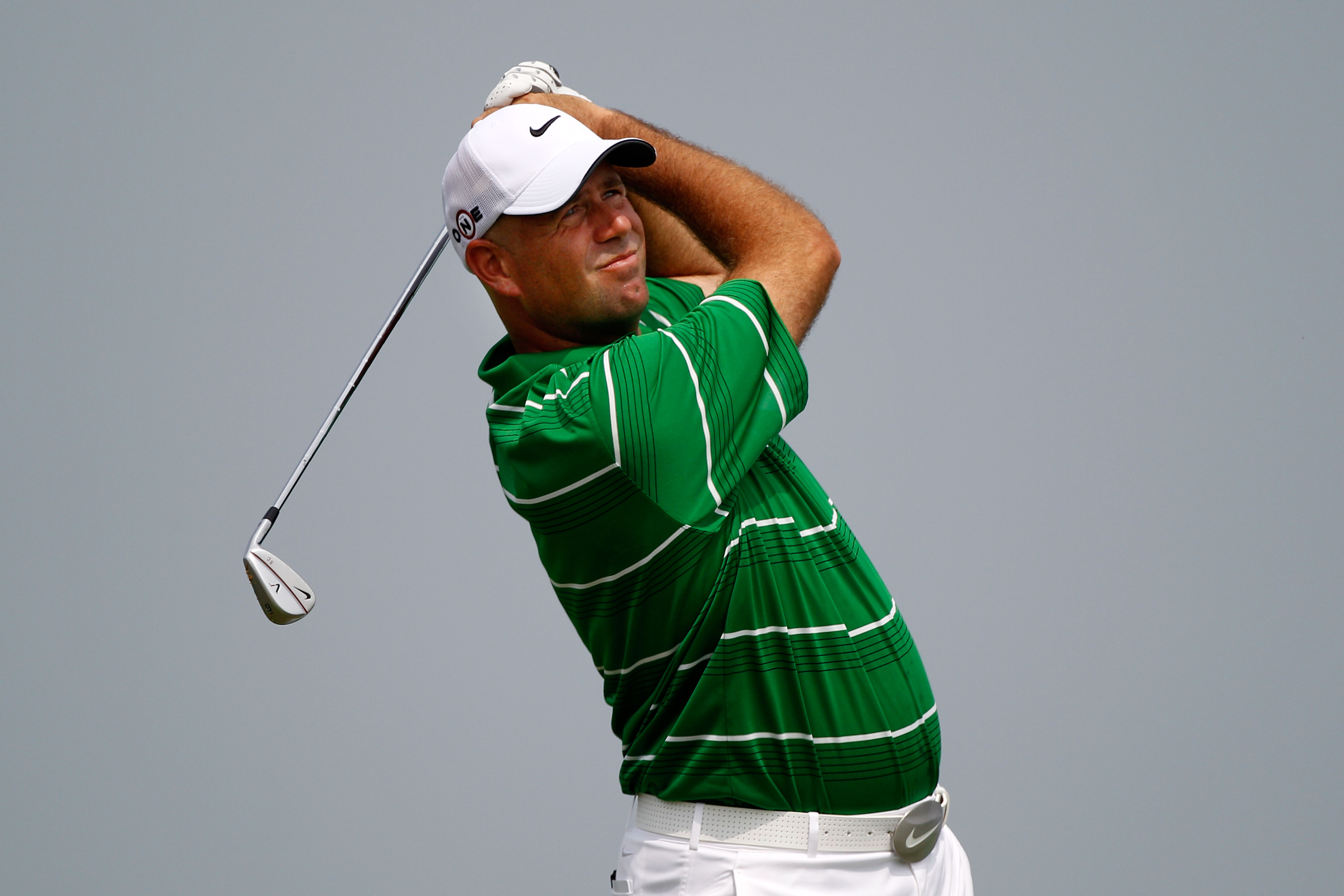 KOHLER, WI - AUGUST 10:  Stewart Cink in action during a practice round prior to the start of the 92nd PGA Championship on the Straits Course at Whistling Straits on August 10, 2010 in Kohler, Wisconsin.  (Photo by Chris Graythen/Getty Images)