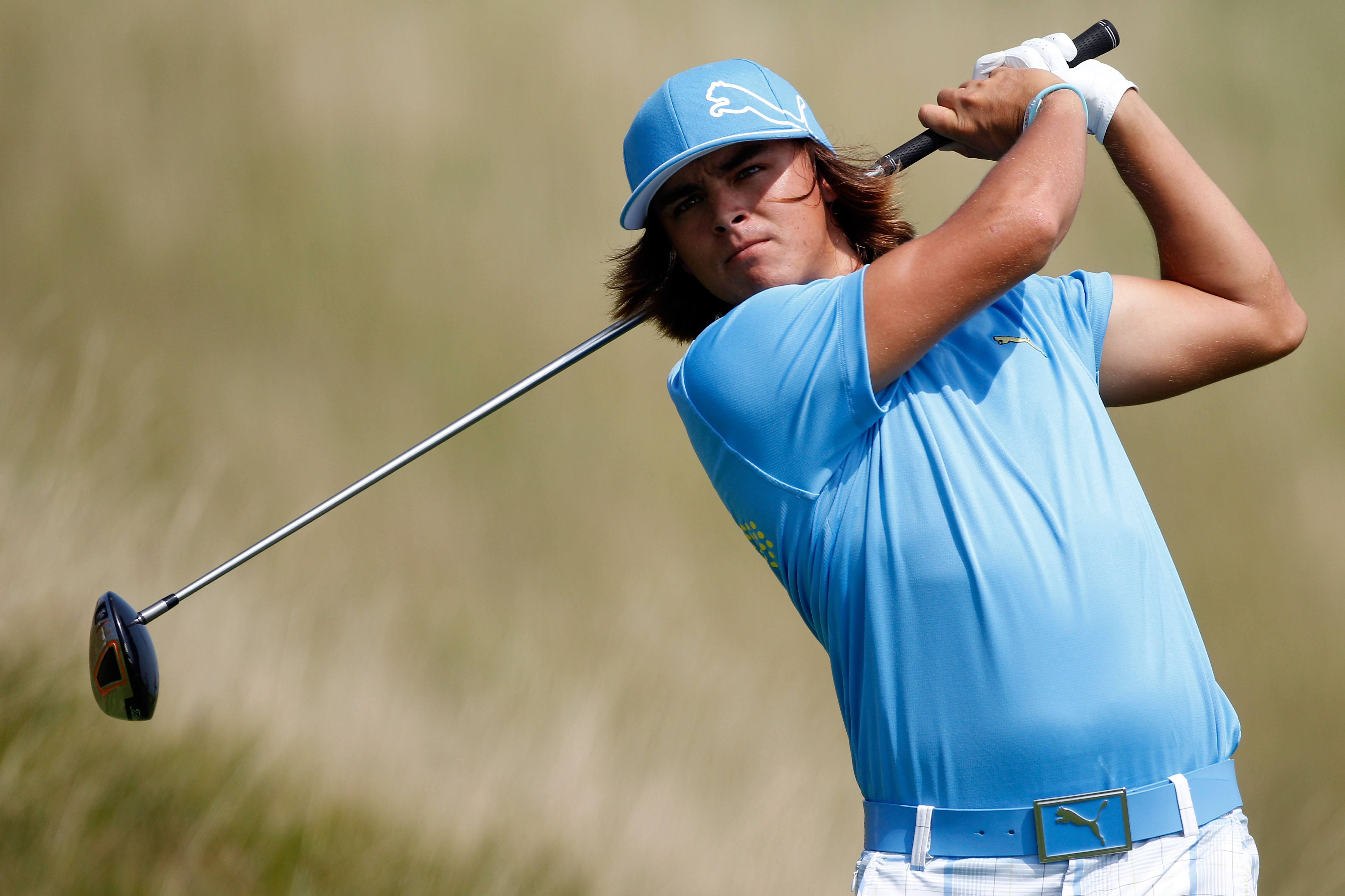 KOHLER, WI - AUGUST 12:  Rickie Fowler watches his tee shot on the 14th hole during the first round of the 92nd PGA Championship on the Straits Course at Whistling Straits on August 12, 2010 in Kohler, Wisconsin.  (Photo by Chris Graythen/Getty Images)
