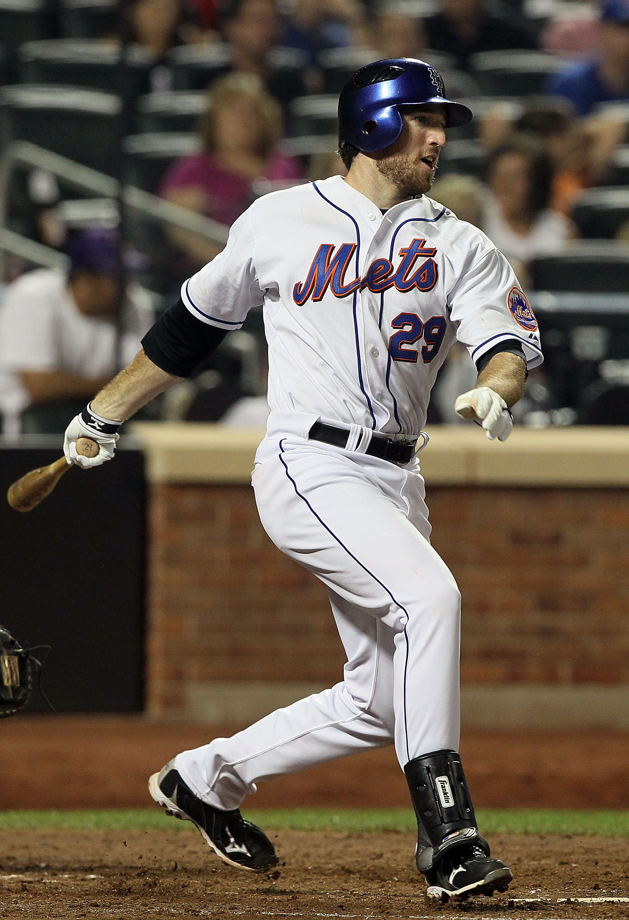 NEW YORK - JULY 05:  Ike Davis #29 of the New York Mets bats against the Cincinnati Reds on July 5, 2010 at Citi Field in the Flushing neighborhood of the Queens borough of New York City.  (Photo by Jim McIsaac/Getty Images)