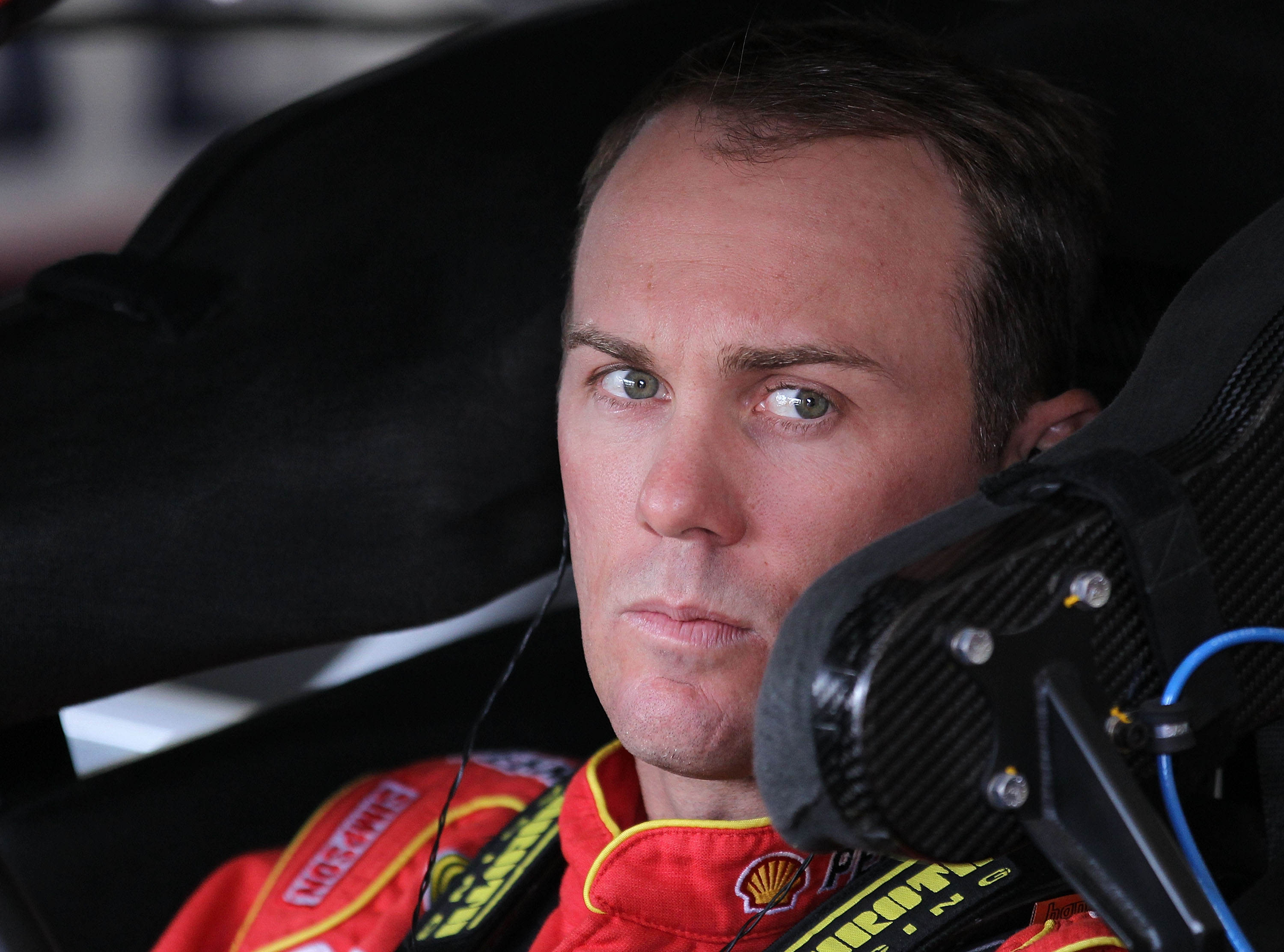 LONG POND, PA - JULY 30:  Kevin Harvick, driver of the #29 Shell/Pennzoil Chevrolet, sits in his car during practice for the NASCAR Sprint Cup Series Sunoco Red Cross Pennsylvania 500 at Pocono Raceway on July 30, 2010 in Long Pond, Pennsylvania.  (Photo