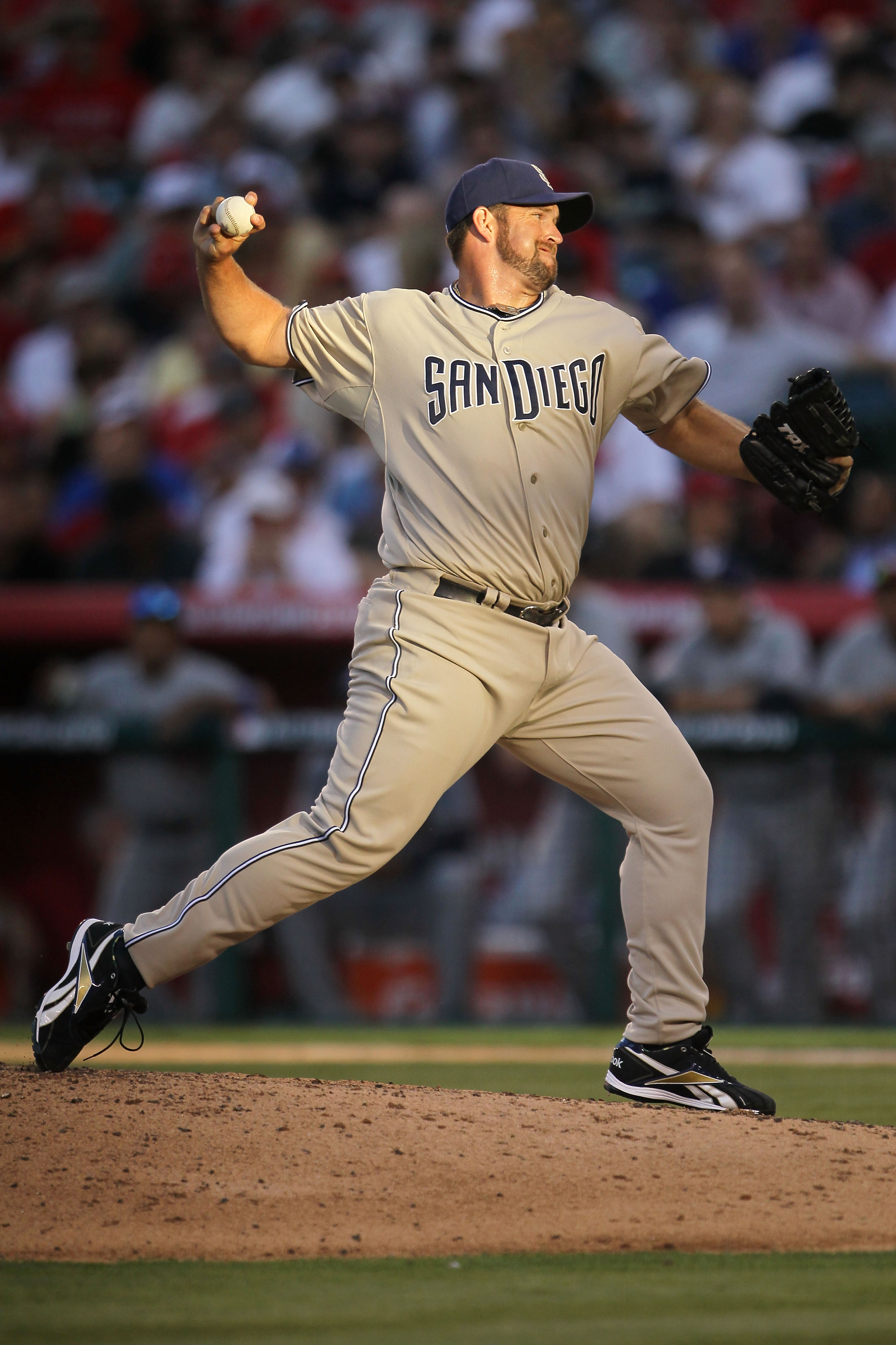 ANAHEIM, CA - JULY 13:  National League All-Star Heath Bell #21 of the San Deigo Padres throws a pitch during the 81st MLB All-Star Game at Angel Stadium of Anaheim on July 13, 2010 in Anaheim, California.  (Photo by Jeff Gross/Getty Images)