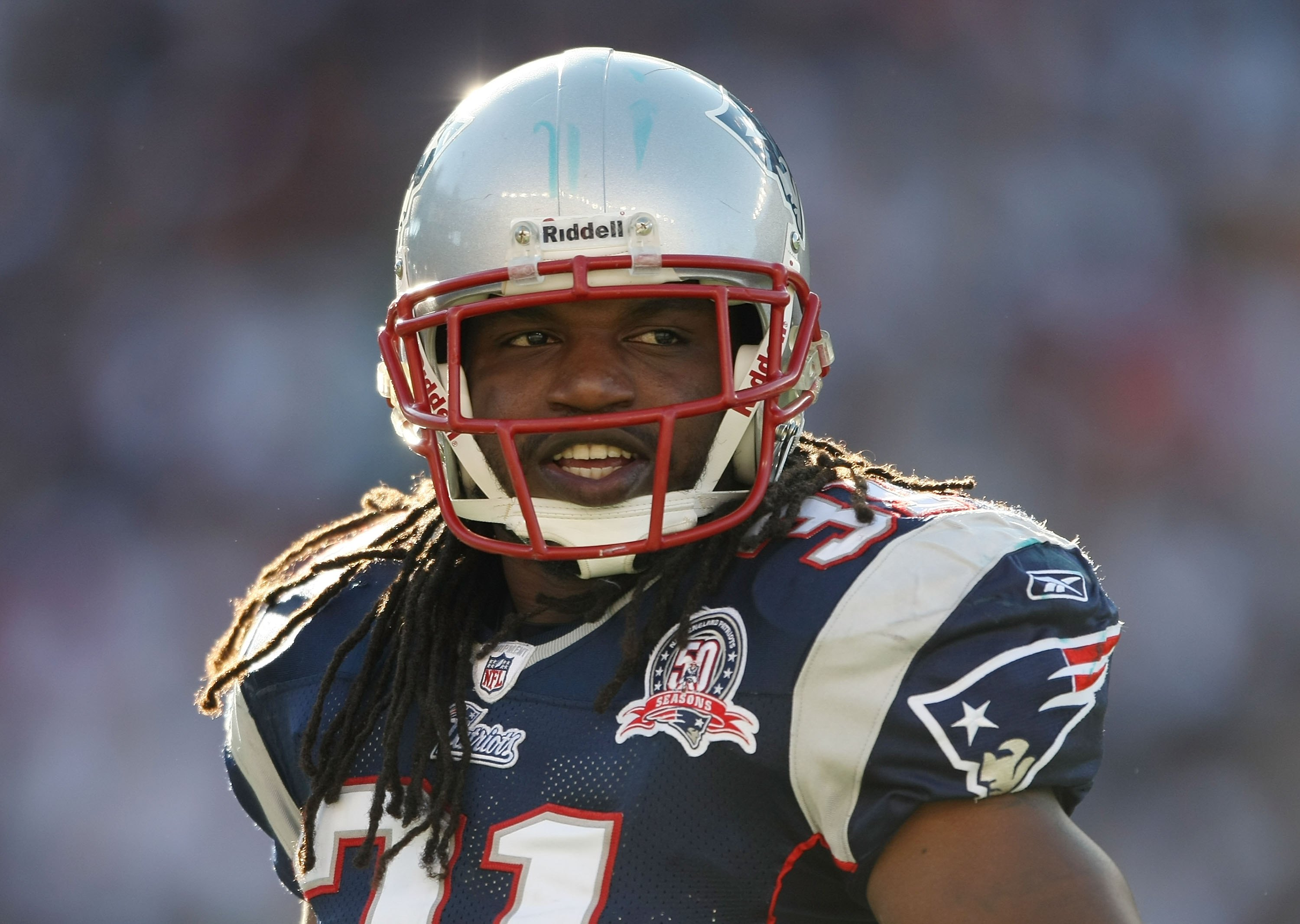 FOXBORO, MA - NOVEMBER 08: Brandon Meriweather #31 of the New England Patriots looks on during the first half the Miami Dolphins on November 8, 2009 at Gillette Stadium in Foxboro, Massachusetts.  (Photo by Elsa/Getty Images)