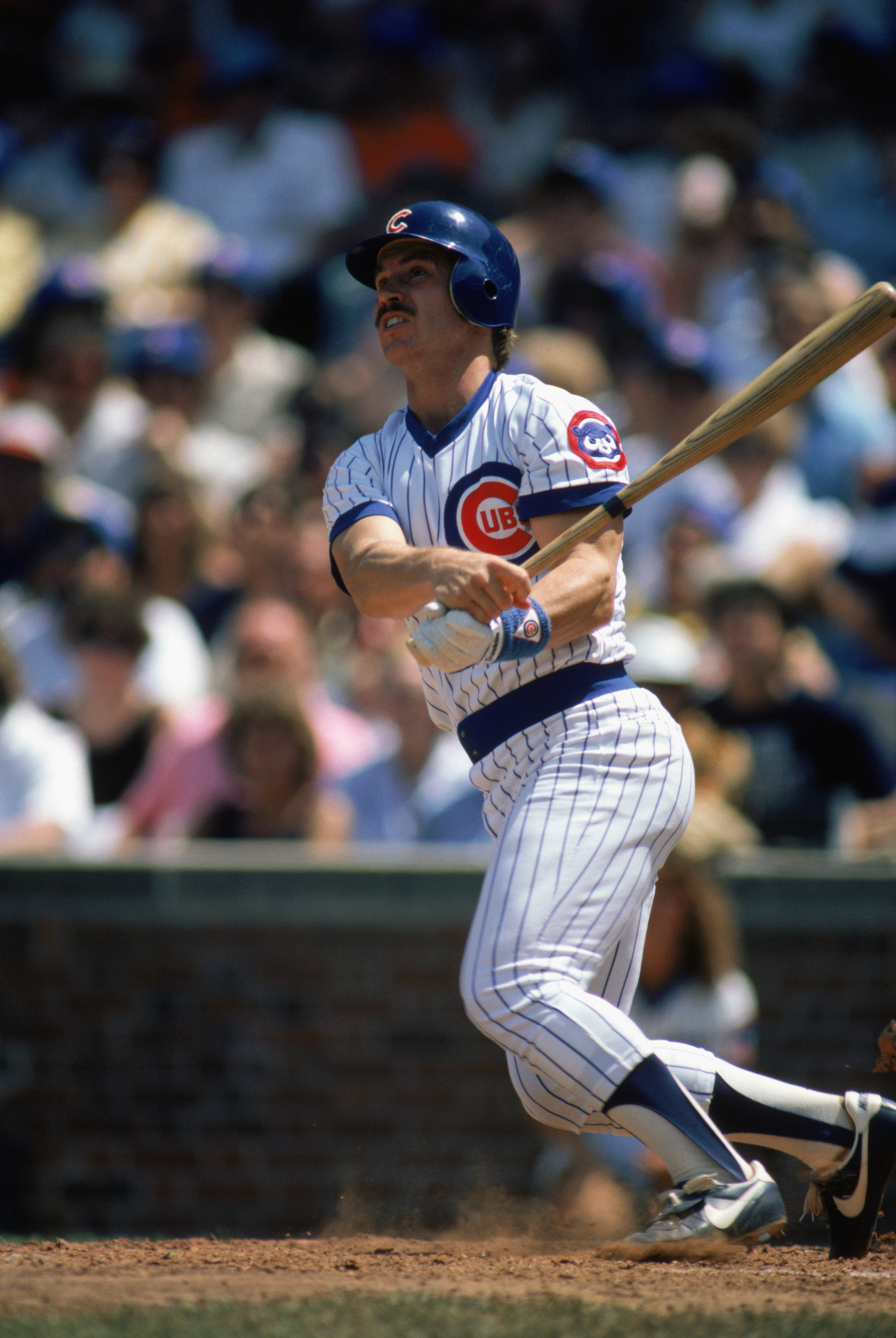 CHICAGO -1985:  Ron Cey #10 of the Chicago Cubs swings at the pitch during a game in the 1985 season at Wrigley Field in Chicago, Illinois .  (Photo by: Jonathan Daniel/Getty Images)