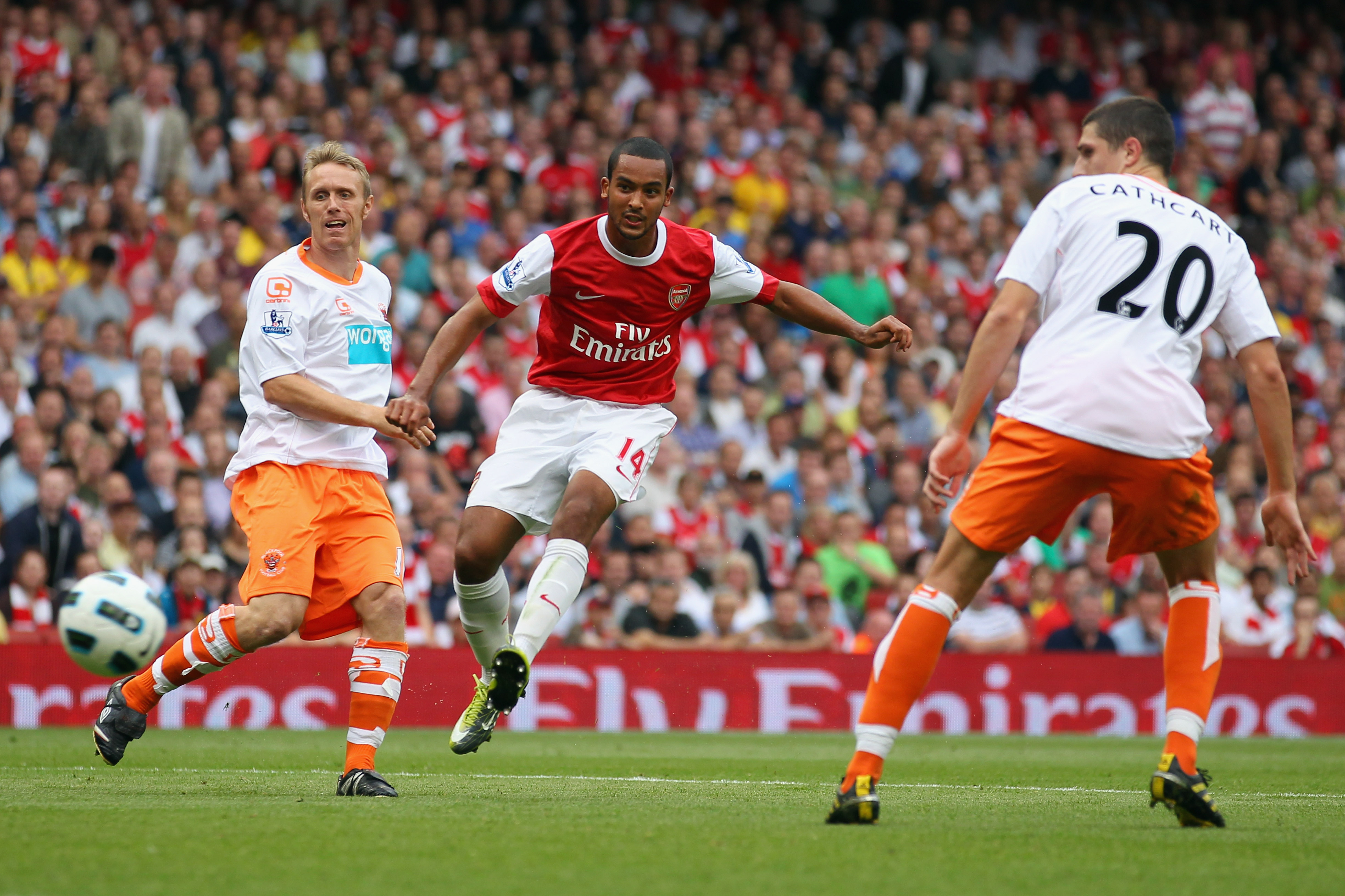 Walcott On His Way to The Hattrick