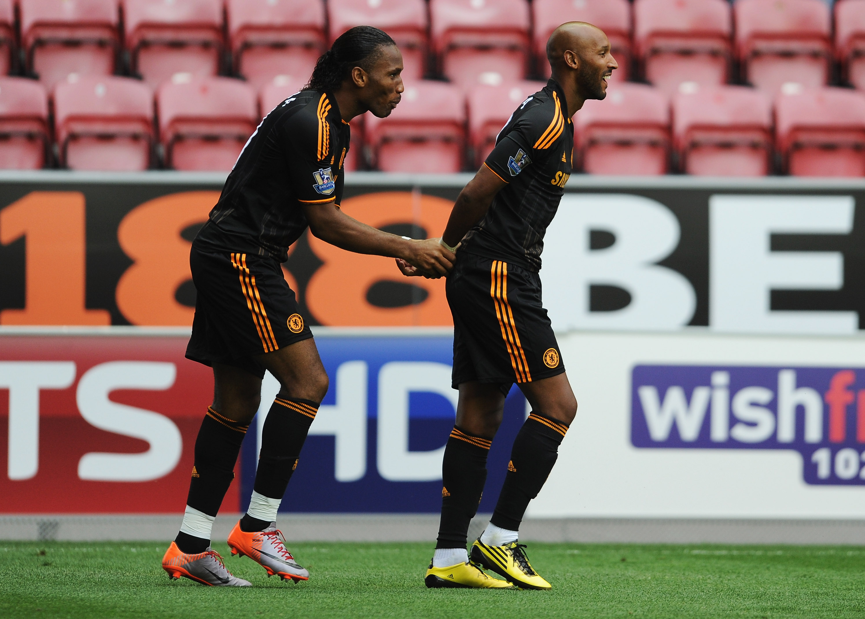 The Backhand Shake Performance By Drogba and Anelka