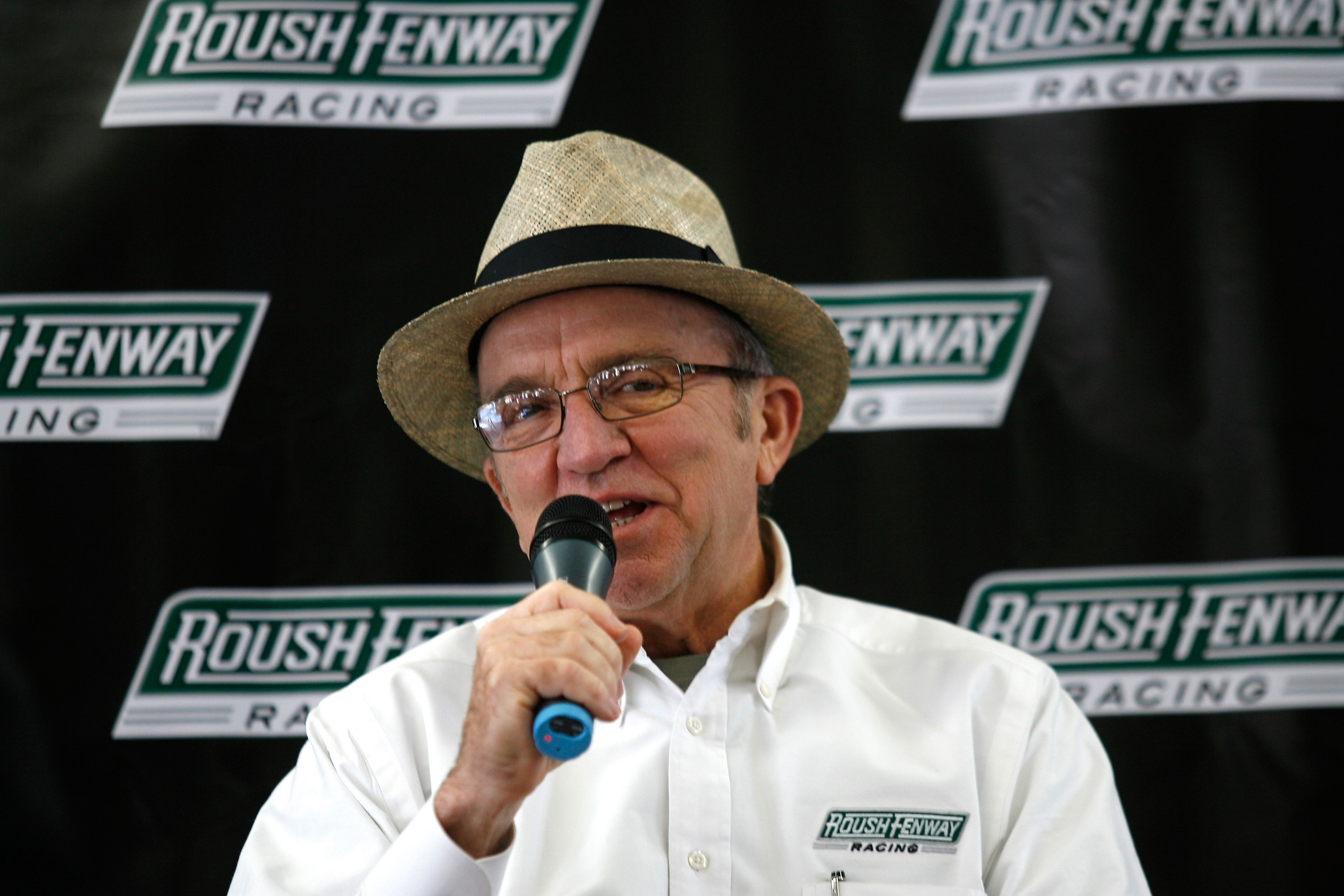 CONCORD, NC - JANUARY 19:  Roush-Fenway Racing team owner Jack Roush speaks with the media during the NASCAR Sprint Media Tour hosted by Charlotte Motor Speedway on January 19, 2010 in Concord, North Carolina.  (Photo by Jason Smith/Getty Images)