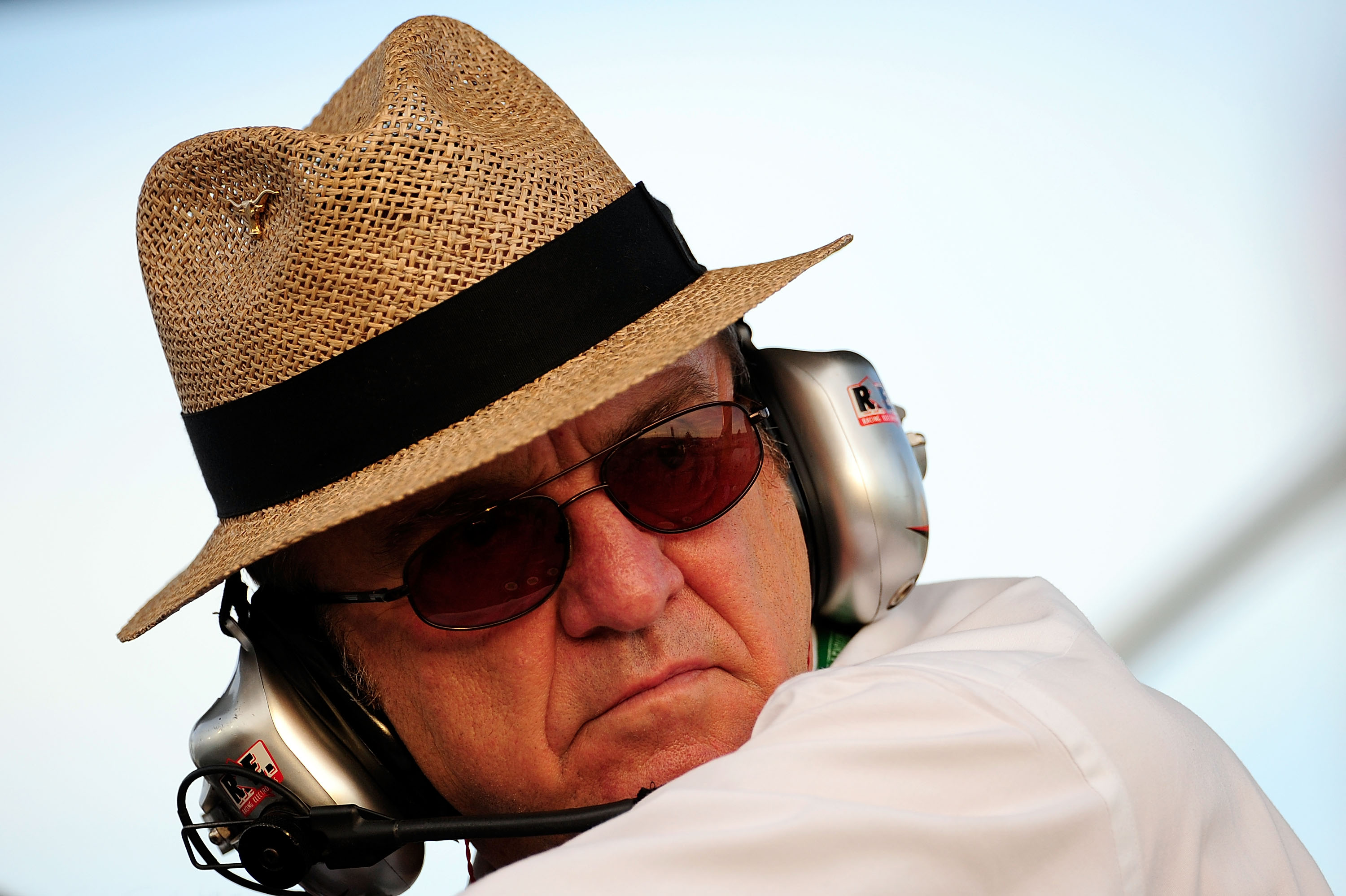 HOMESTEAD, FL - NOVEMBER 21:  Team owner Jack Roush looks on from the pit box prior to the start of the NASCAR Nationwide Series Ford 300 at Homestead-Miami Speedway on November 21, 2009 in Homestead, Florida.  (Photo by Sam Greenwood/Getty Images)