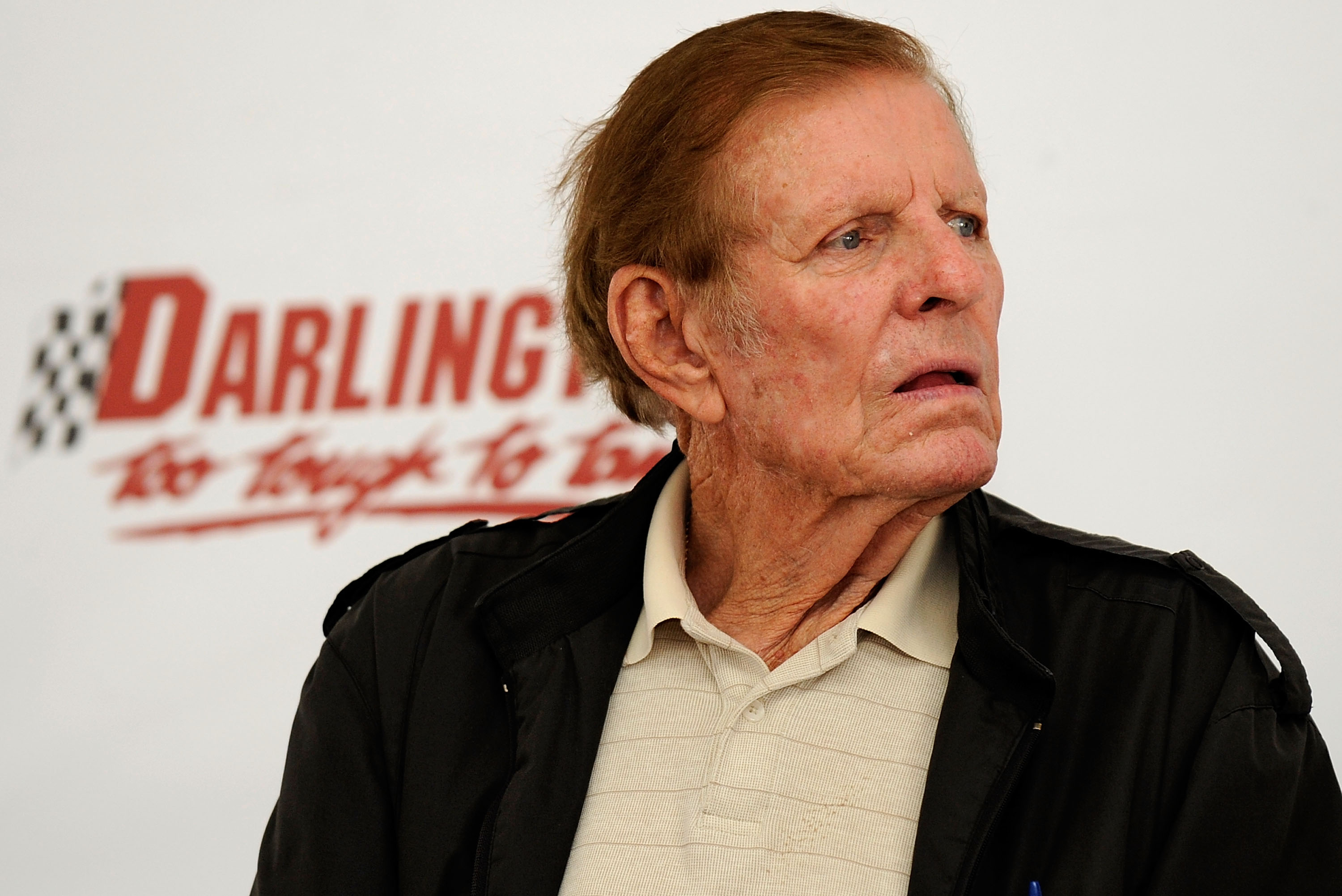 DARLINGTON, SC - SEPTEMBER 26:  NASCAR legend Bud Moore does a Q&A for fans during the Darlington Historic Racing Festival on September 26, 2009 at Darlington Raceway in Darlington, South Carolina.  (Photo by Rusty Jarrett/Getty Images)