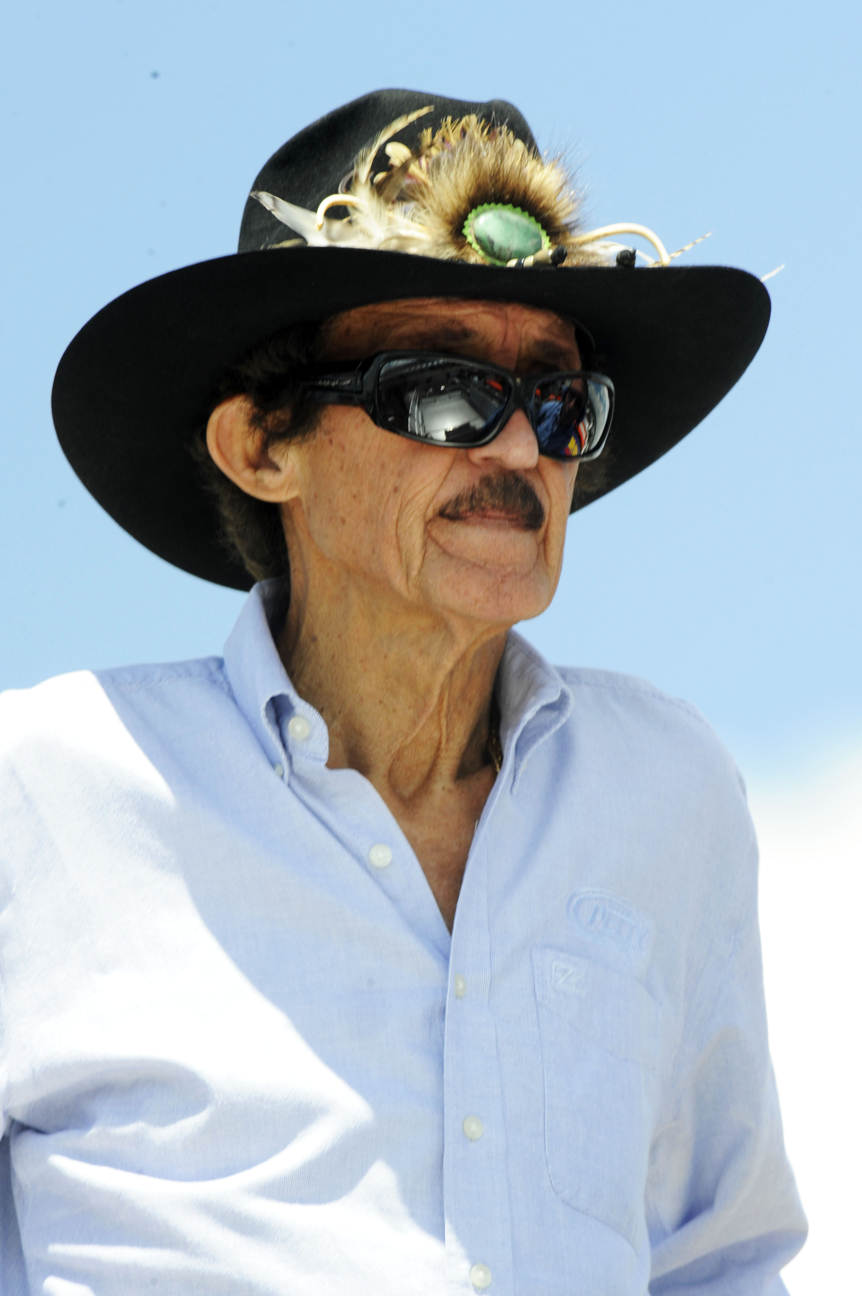 LONG POND, PA - JULY 30:  Team owner Richard Petty watches practice for the NASCAR Sprint Cup Series Sunoco Red Cross Pennsylvania 500 at Pocono Raceway on July 30, 2010 in Long Pond, Pennsylvania.  (Photo by John Harrelson/Getty Images for NASCAR)