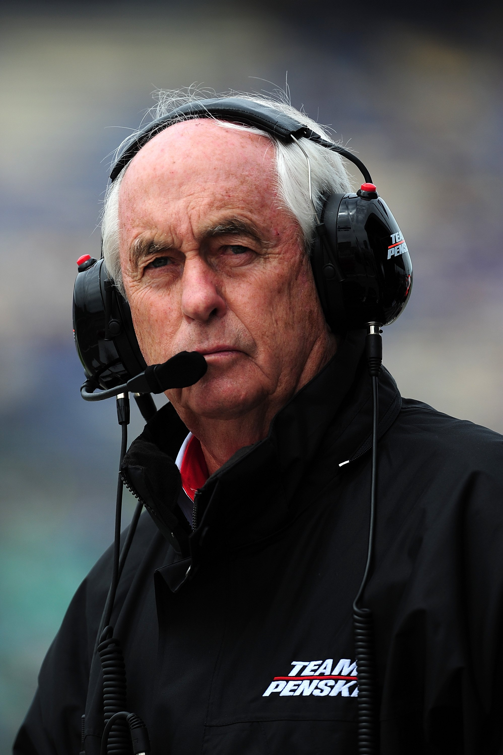 KANSAS CITY, KS - MAY 01:  Roger Penske, team owner of Team Penske, during the Indy Car Series Road Runner Turbo Indy 300 at Kansas Speedway on May 1,  2010 in Kansas City, Kansas  (Photo by Rick Dole/Getty Images)