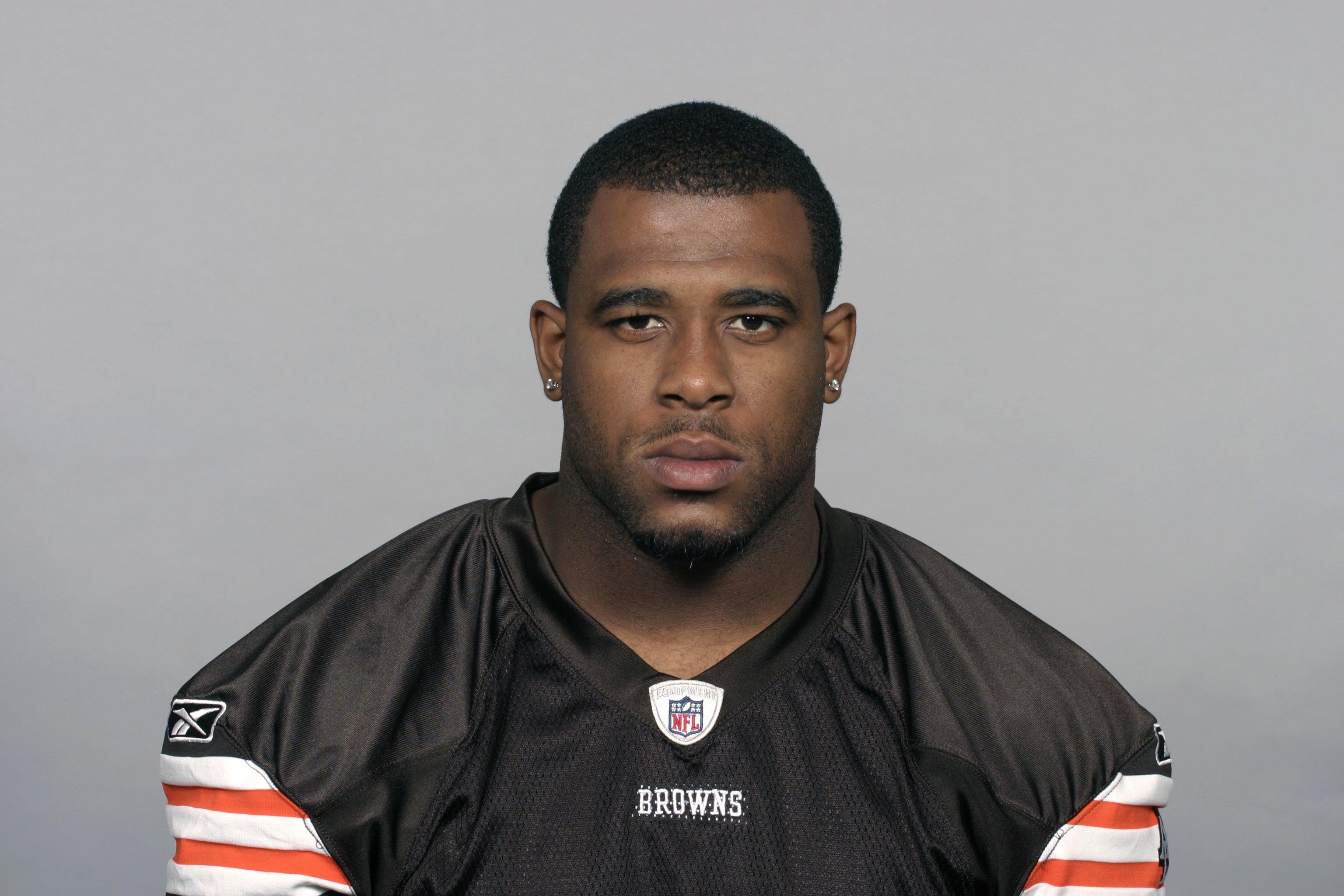 CLEVELAND - 2009:  Lawrence Vickers of the Cleveland Browns poses for his 2009 NFL headshot at photo day in Cleveland, Ohio. (Photo by NFL Photos)