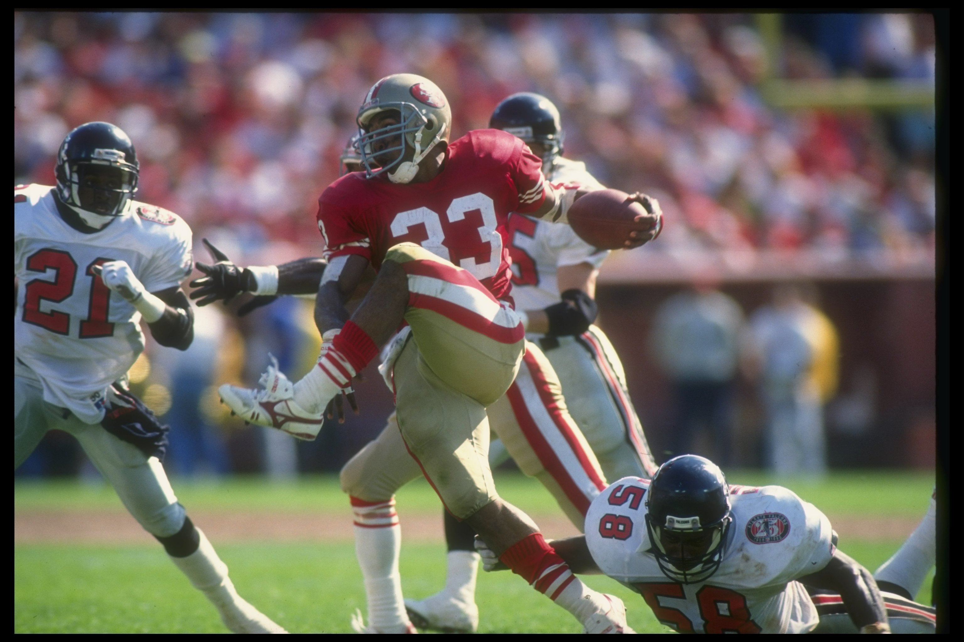 e283129238a 23 Sep 1990  Running back Roger Craig of the San Francisco 49ers runs with  the