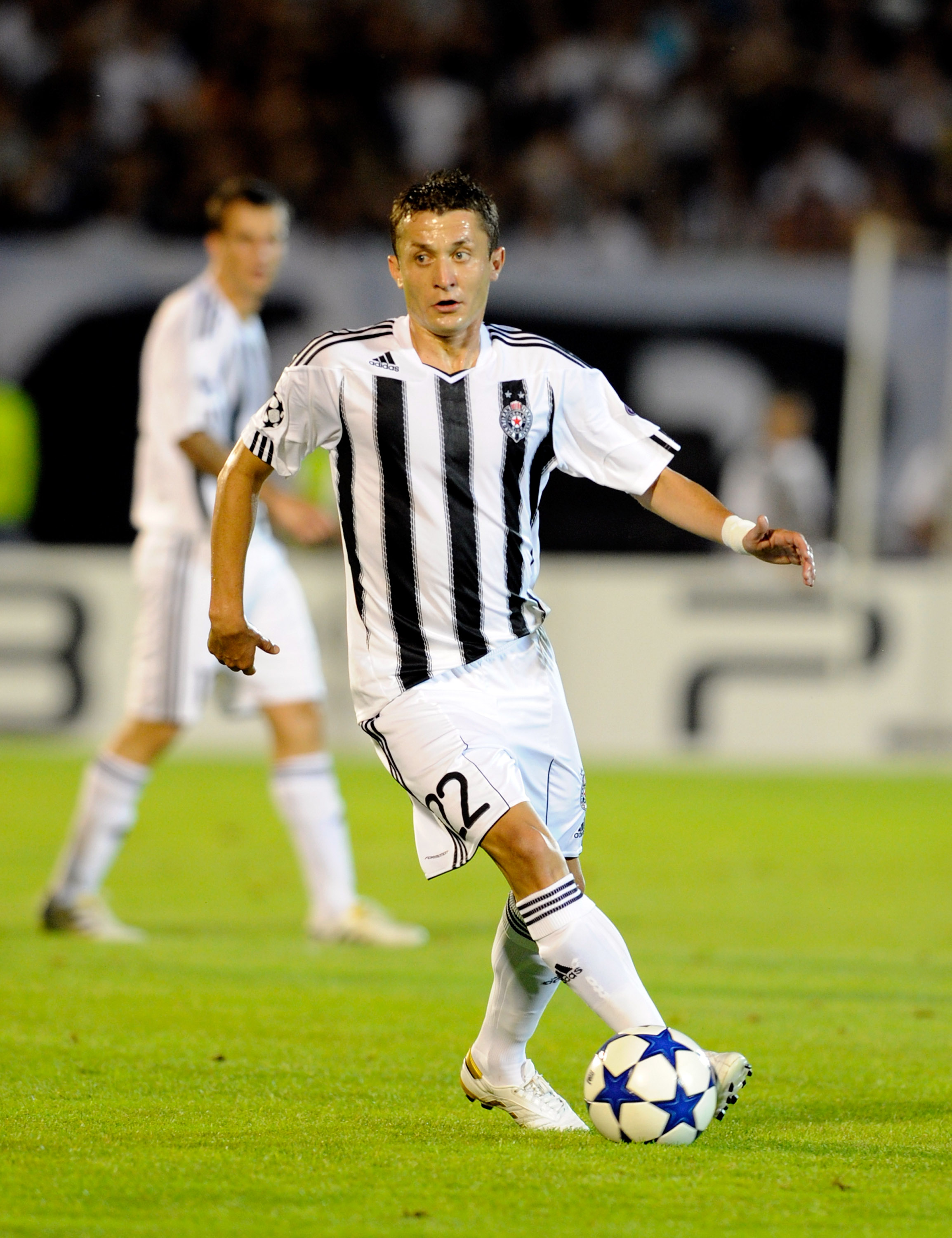 BELGRADE, SERBIA - AUGUST 18:  Sasa Ilic of FK Partizan during the Champions League Play-off match between Partizan and Anderlecht at Partizan Stadium on August 18, 2010 in Belgrade, Serbia.  (Photo by Claudio Villa/Getty Images)