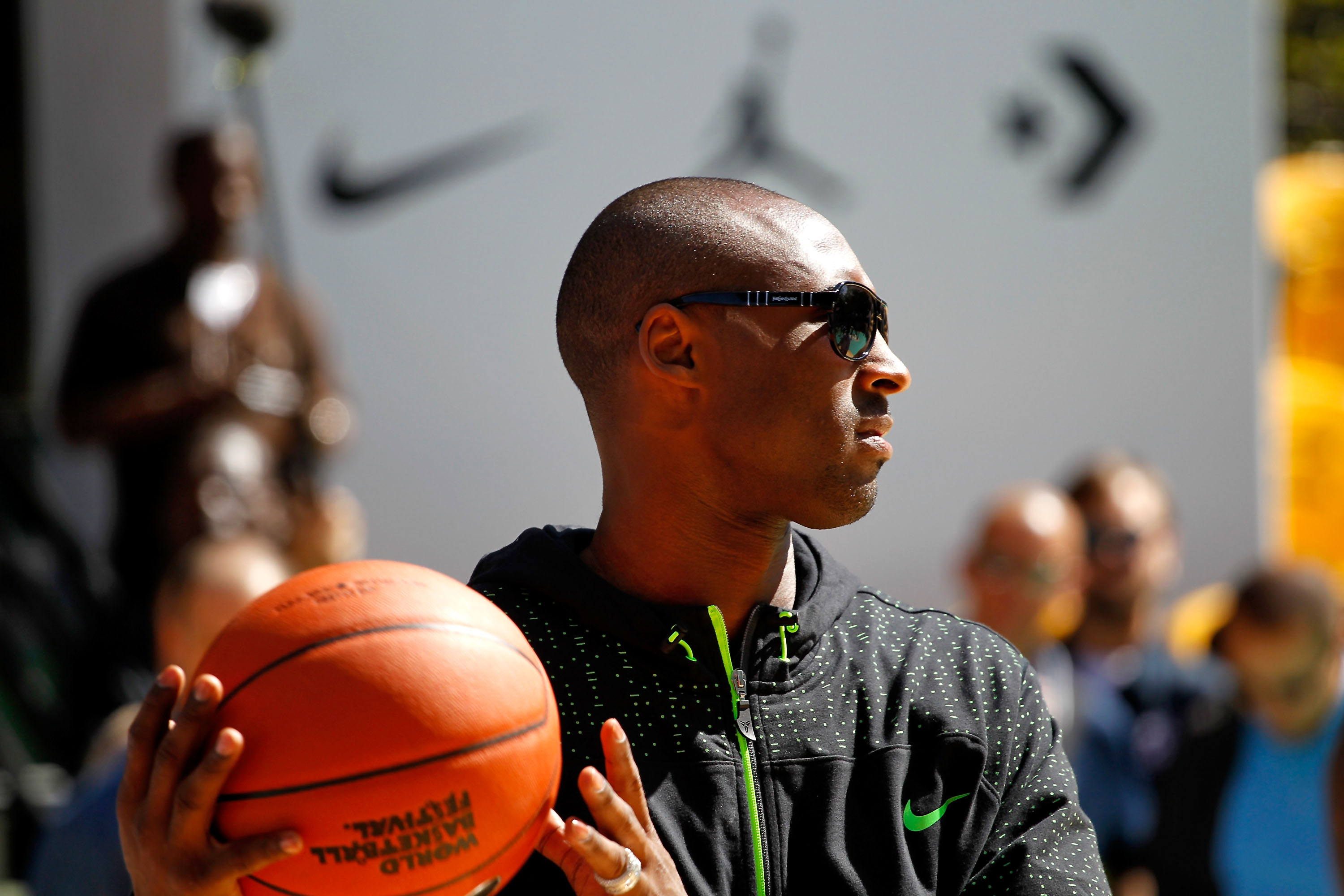 NEW YORK CITY, NY - AUGUST 14:  Kobe Bryant attends the World Basketball Festival at Rucker Park on August 14, 2010 in New York City.  (Photo by Chris Trotman/Getty Images for Nike)