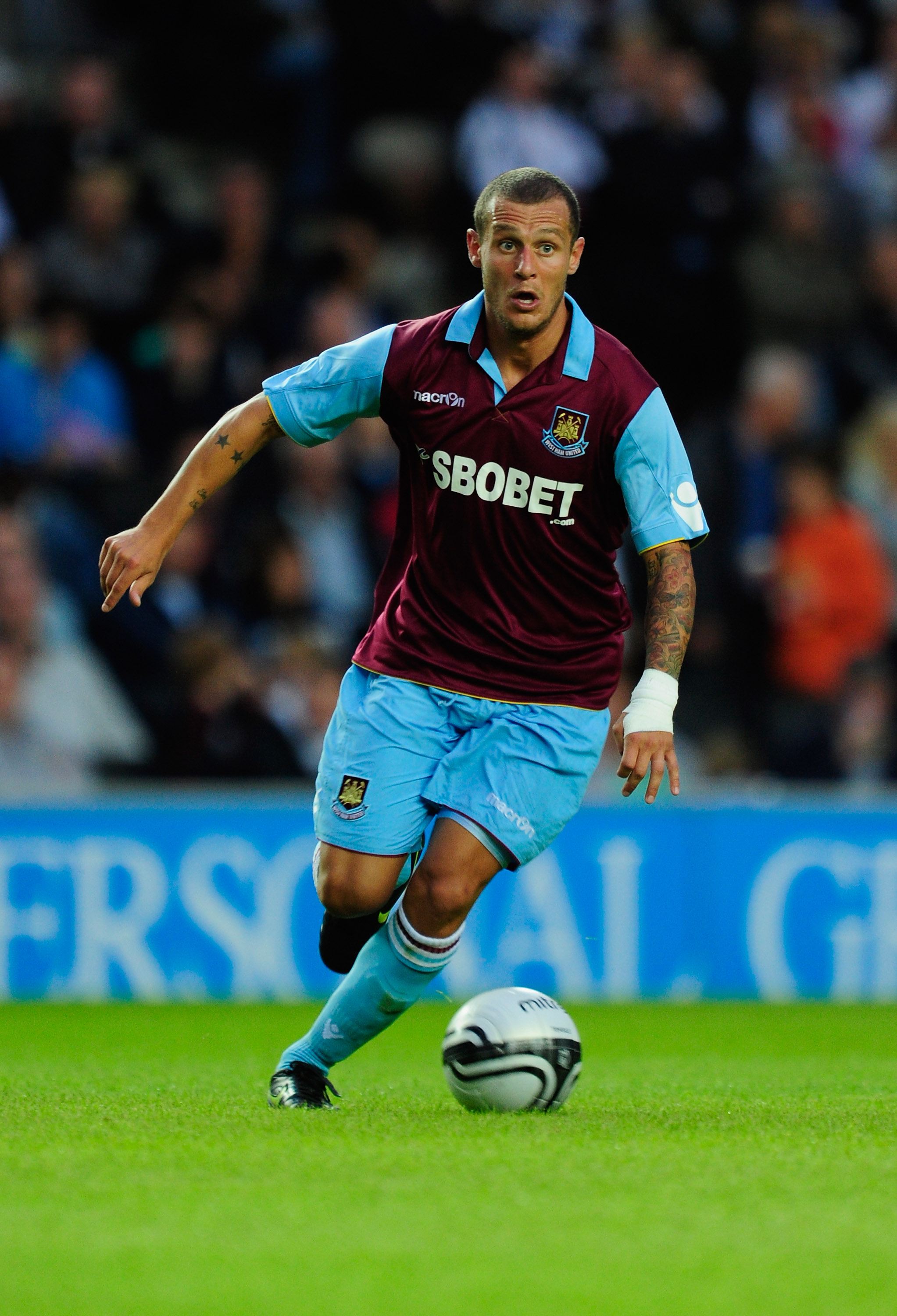 MILTON KEYNES, ENGLAND - JULY 28:  Alessandro Diamanti of West Ham United in action during the pre-season friendly match between MK Dons and West Ham United at the Stadium MK on July 28, 2010 in Milton Keynes, England.  (Photo by Jamie McDonald/Getty Imag