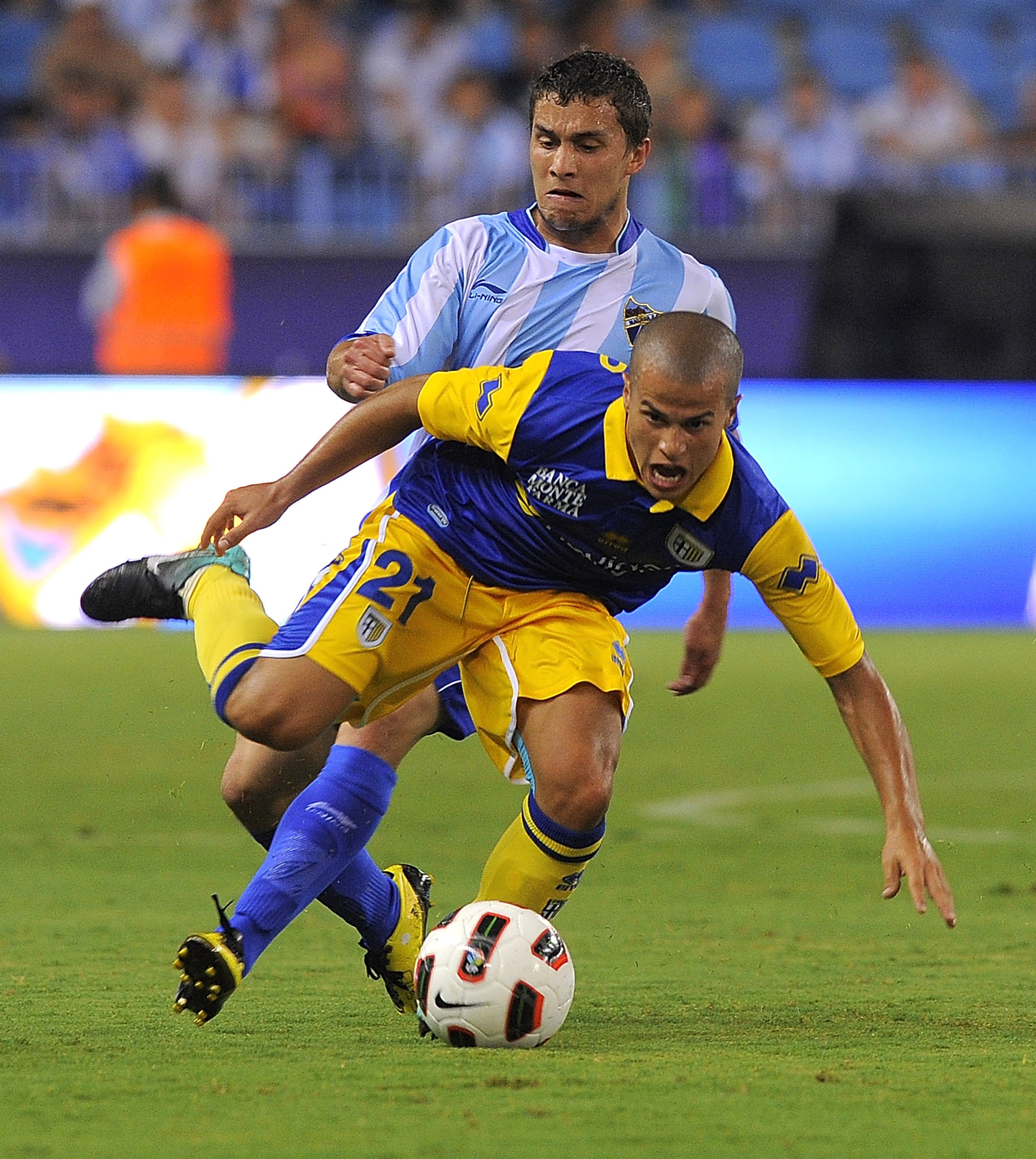 MALAGA, SPAIN - AUGUST 22:  Sebastian Giovinco of Parma in action during the preseason friendly match between Malaga and Parma at La Rosaleda Stadium on August 22, 2010 in Malaga, Spain.  (Photo by Dino Panato/Getty Images)