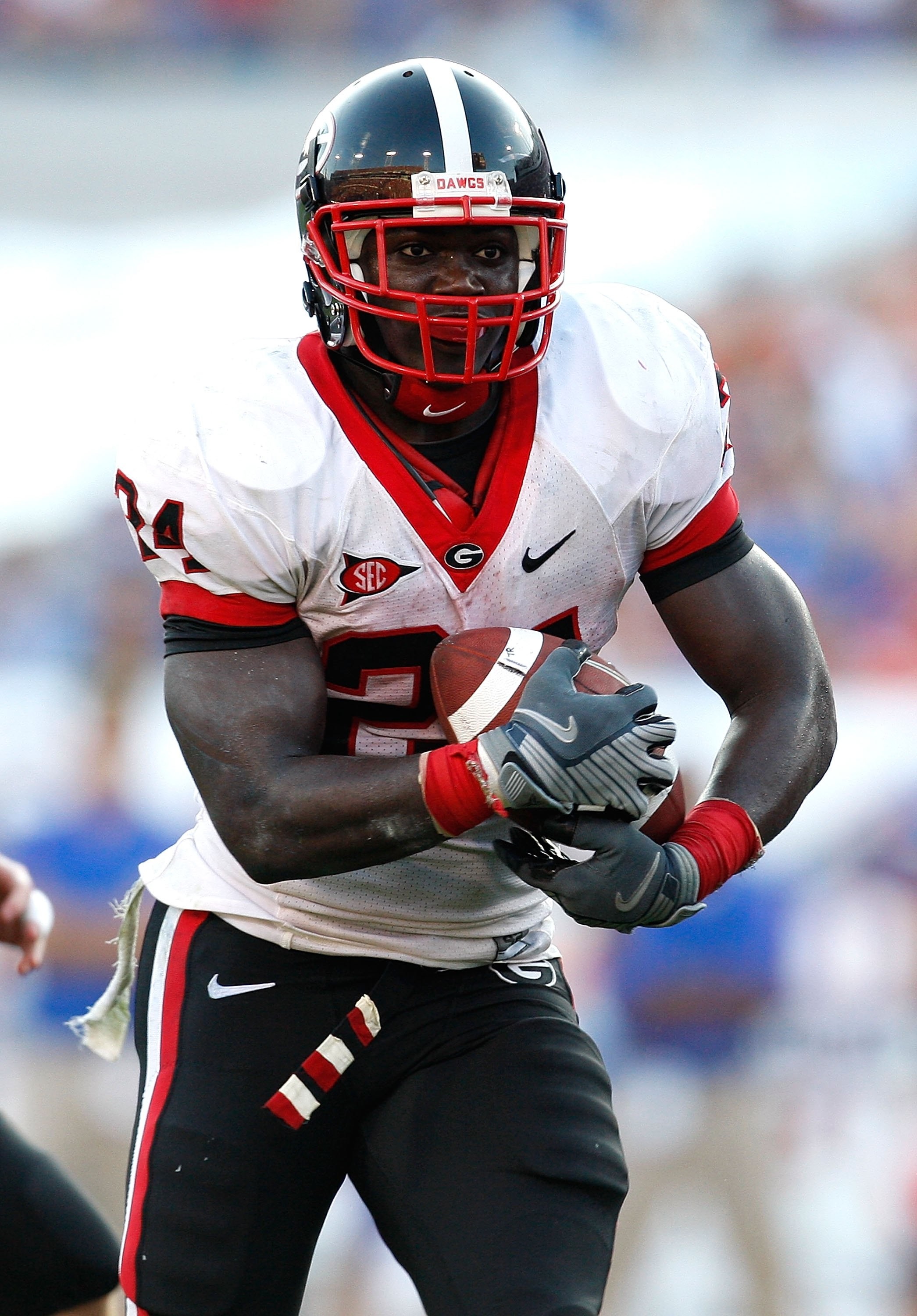 JACKSONVILLE, FL - OCTOBER 31:  Washaun Ealey #24 of the Georgia Bulldogs against the Florida Gators at Jacksonville Municipal Stadium on October 31, 2009 in Jacksonville, Florida.  (Photo by Kevin C. Cox/Getty Images)