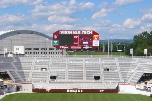 Endzone seating at Virginia Tech's Lane Stadium.