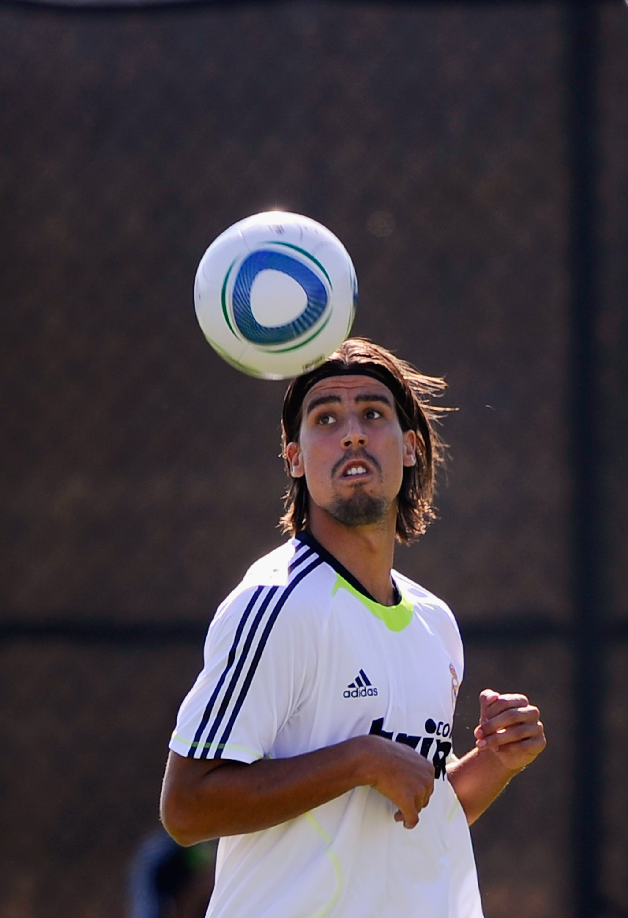 LOS ANGELES, CA - AUGUST 03:  Sami Khedira of Real Madrid controls the ball during training session on the campus of UCLA on August 3, 2010 in Los Angeles, California. Real Madrid will play Club America of Mexico in San Francisco, California, on August 4