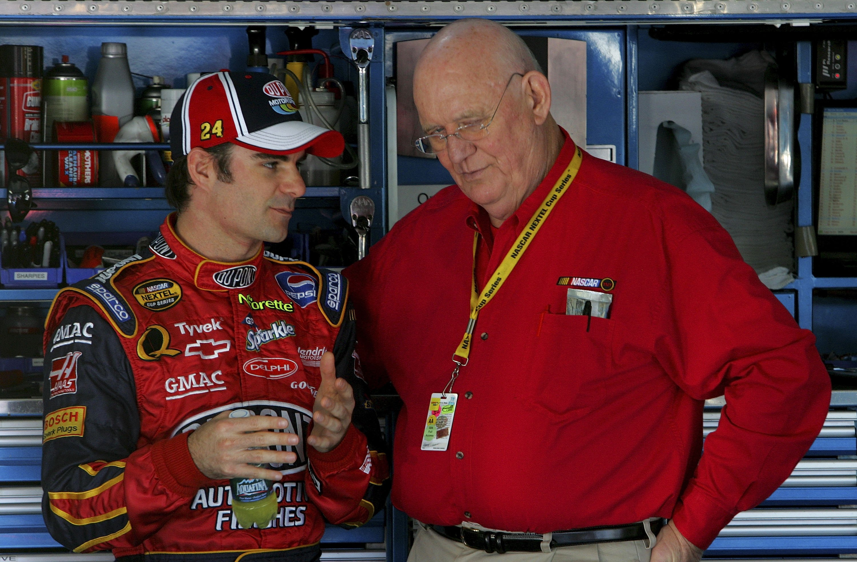 Parsons chats with Jeff Gordon