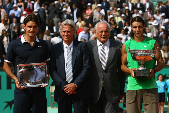 Roger Federer, runner-up again to Nadal in 2008 at the French Open