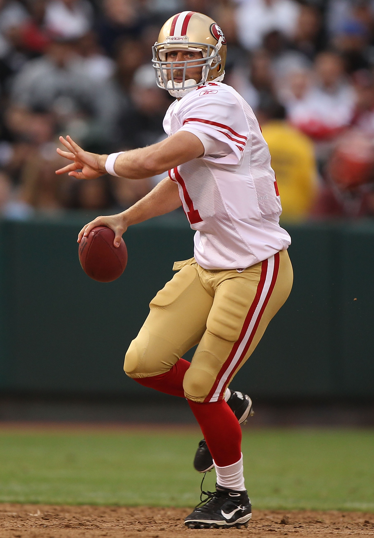 Shhh.... 49ers quarterback Alex Smith is still sleeping as he enters his sixth season.