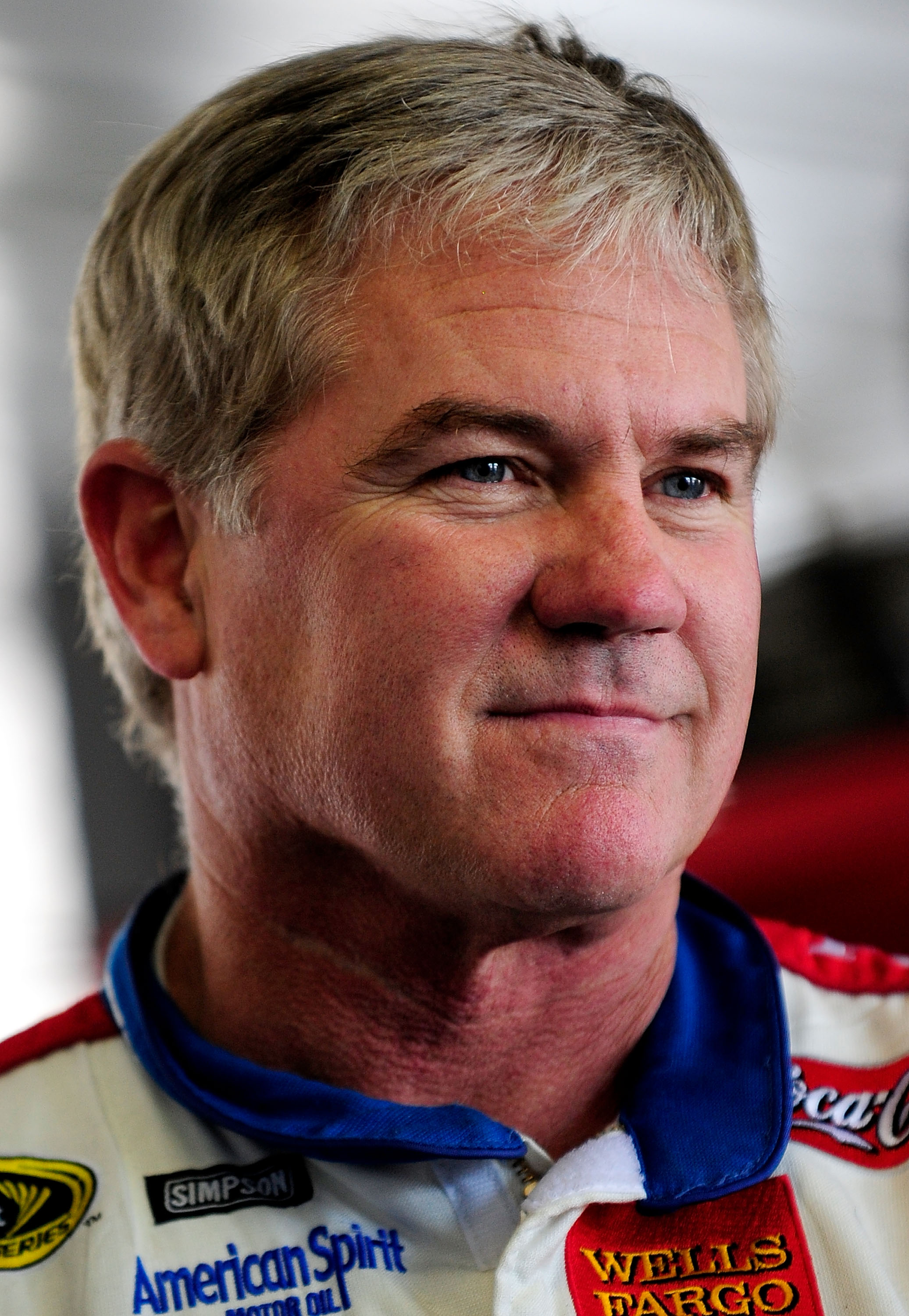 LONG POND, PA - MAY 28:  Terry LaBonte, driver of the #45 Petty Enterprises Dodge looks on as his crew makes adjustments to his car during NASCAR Sprint Cup testing at Pocono Raceway on May 28, 2008 in Long Pond, Pennsylvania.  (Photo by Rusty Jarrett/Get