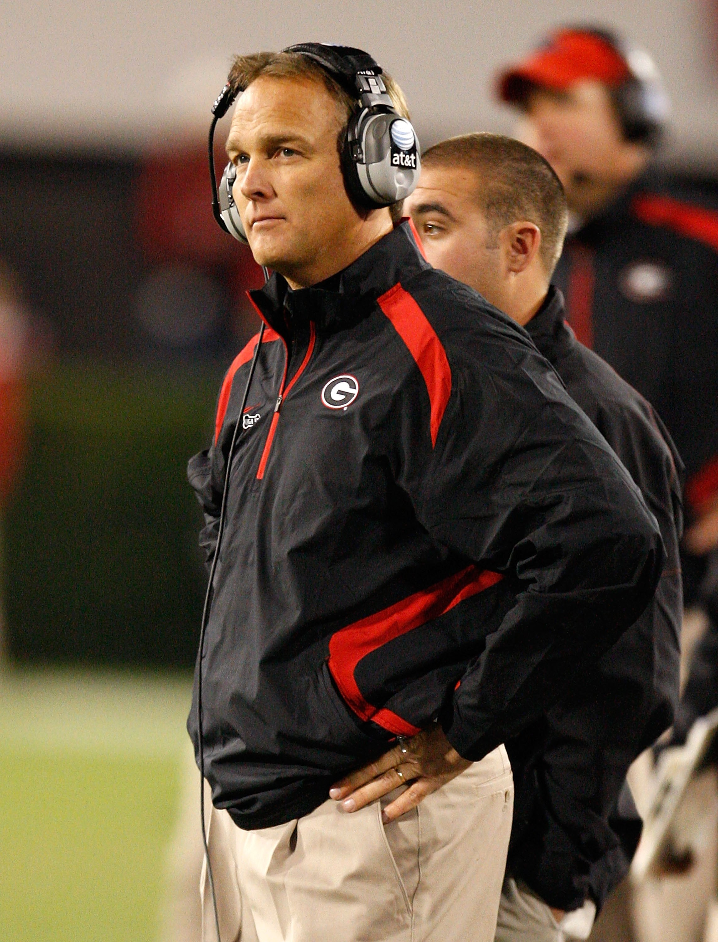 ATHENS, GA - NOVEMBER 21:  Head coach Mark Richt of the Georgia Bulldogs against the Kentucky Wildcats at Sanford Stadium on November 21, 2009 in Athens, Georgia.  (Photo by Kevin C. Cox/Getty Images)